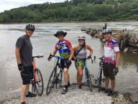 Bicycle dip at the Missouri River